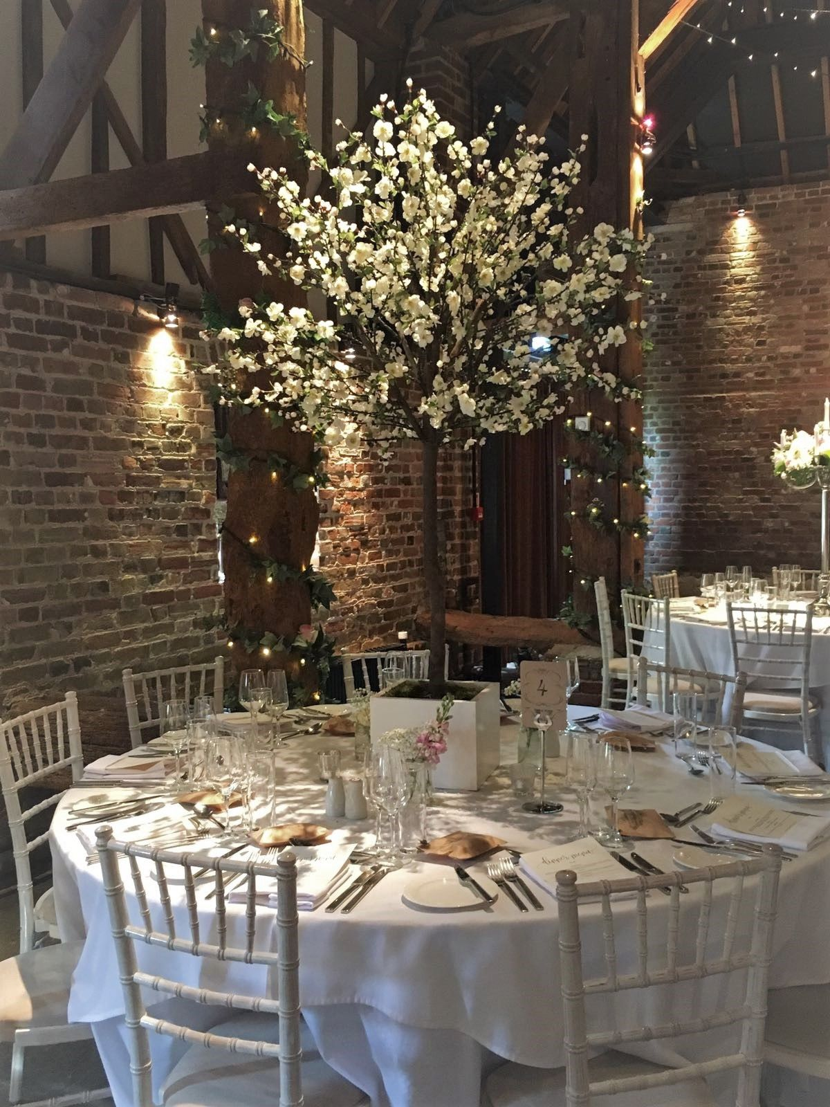 White Blossom Tree Centrepiece By One Of Our Recommended Suppliers Fl Explosion