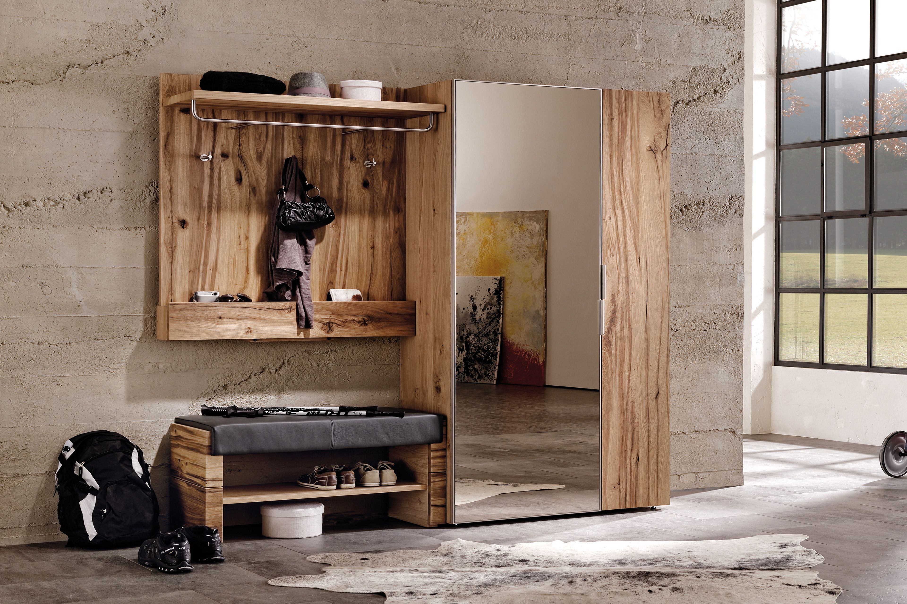 v alpin von voglauer garderobe altholz eiche leder k che pinterest altholz eiche und. Black Bedroom Furniture Sets. Home Design Ideas