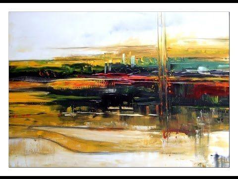 Acrylmalerei, abstrakte Landschaft/Tutorial: abstract landscape - YouTube