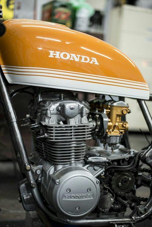 Bikes And Bikes Honda Motorbikes Cafe Racer Tank Honda Motorcycles