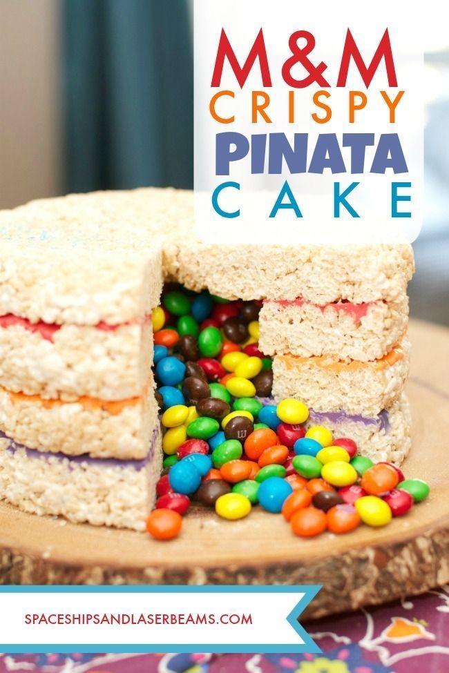 Photo of M&M's Crispy Pinata Cake – Apfel Kuchen – Ostern