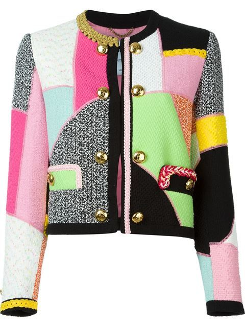 New Look Patchwork Cropped Chaqueta para Mujer