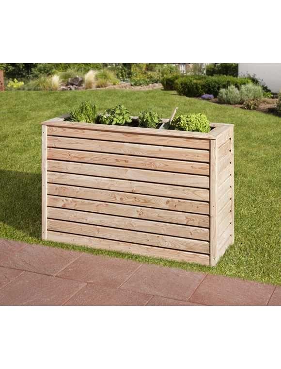 Pflanzkübel Beton Hagebaumarkt.Mr Gardener Hochbeet Schmal 120x40x80 Cm Lärche Garten