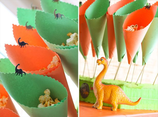 Dinossaur Party, cute arrangement for popcorn??