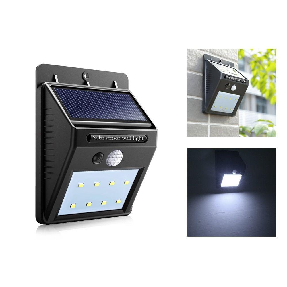 Waterproof Solar Light 8 16 20leds Pir Motion Detector Door Wall Light Outdoor Led Solar Panel Lamp Security Spot Lighting