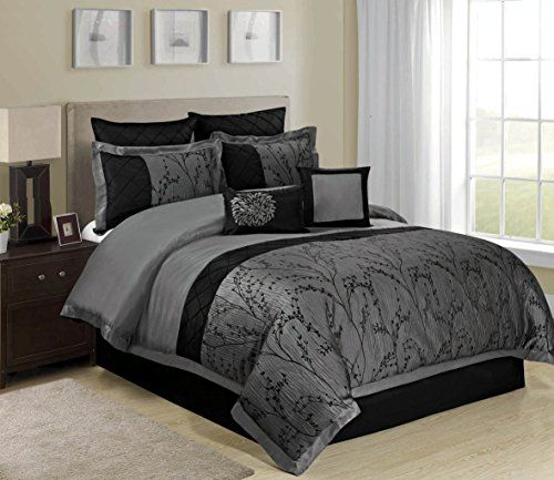 8 Piece Weistera Jacquard Tree Branches Comforter Sets Qu Https