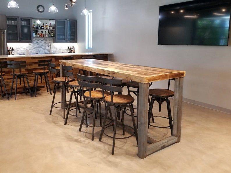 Reclaimed Wood Bar Table Restaurant Counter Community Communal Etsy In 2020 Reclaimed Wood Bars Wood Bar Table Restaurant Counter