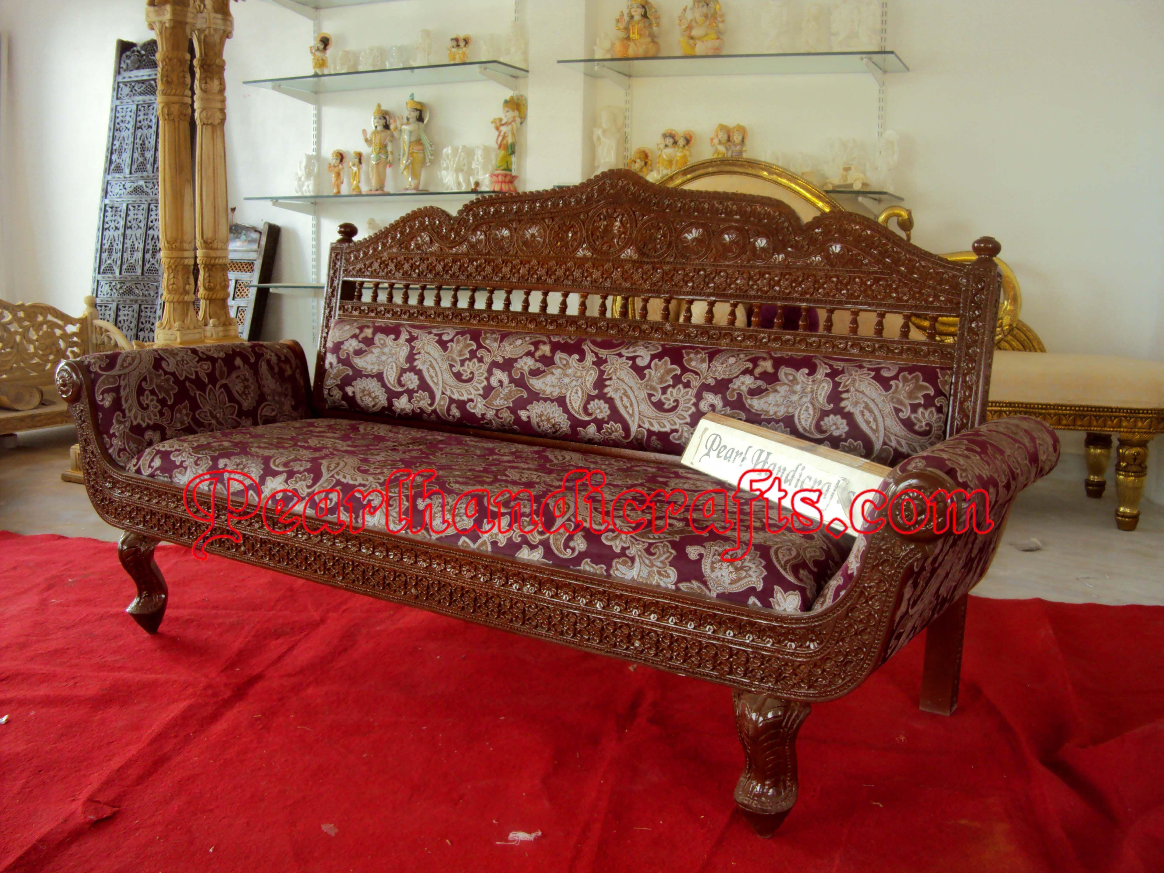 3 Seater Sofa Jpg 4000 3000 Teak Sofa Carved Sofa Wooden Sofa Designs