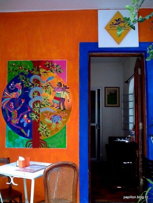 Quinto pecado - O Mural na parede é do artista plástico Felipe Ehrenberg, mexicano radicado em São Paulo há 10 anos