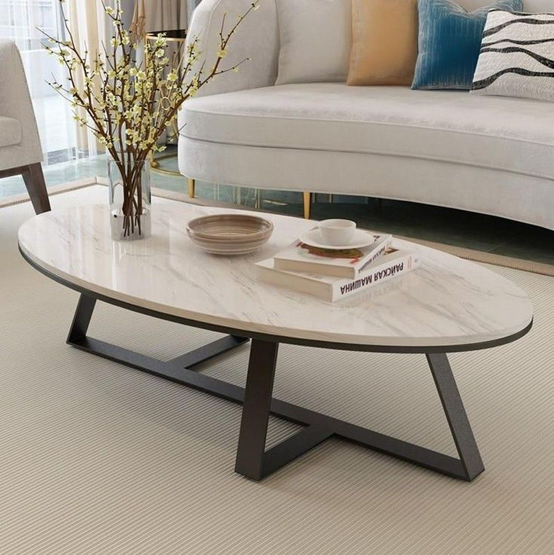 Modern Coffee Tables To Add Zing To Your Living Coffee Table Design Modern Oval Marble Coffee Table Marble Coffee Table [ 1081 x 1080 Pixel ]