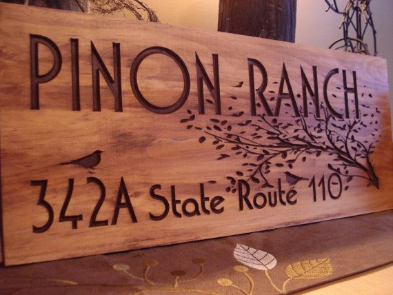 Rustic Wooden Ranch Cabin Address Sign Carved Address Plaque Rustic Wooden House Signs Home Wooden Signs Rustic Wooden Sign