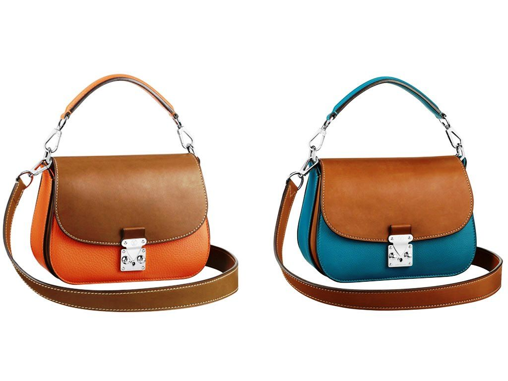 50f8abe46595 Louis Vuitton Clementine and Blue Tan Vivienne S Lock Bag