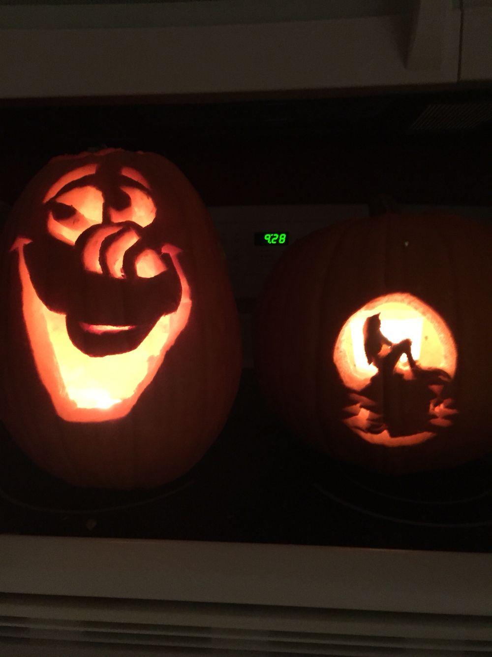 Disney Pixar Pumpkins Little Mermaid S Aerial Frozen S Olaf