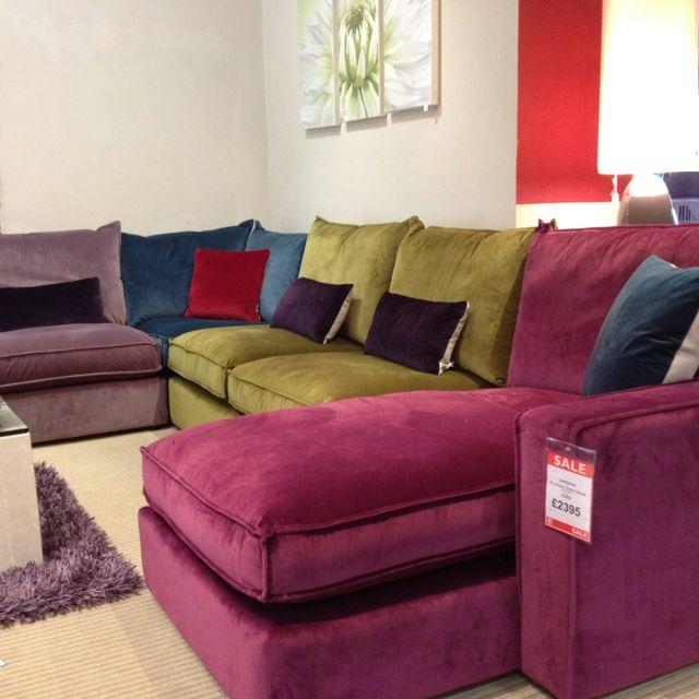 Corner Sofas Cardiff: New Jamboree Velvet Material Corner Sofa At The Cardiff