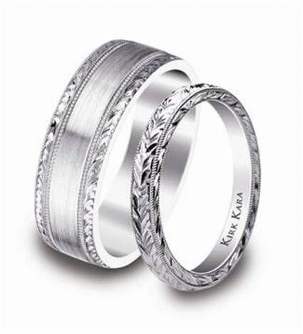 Anillos de boda en platino