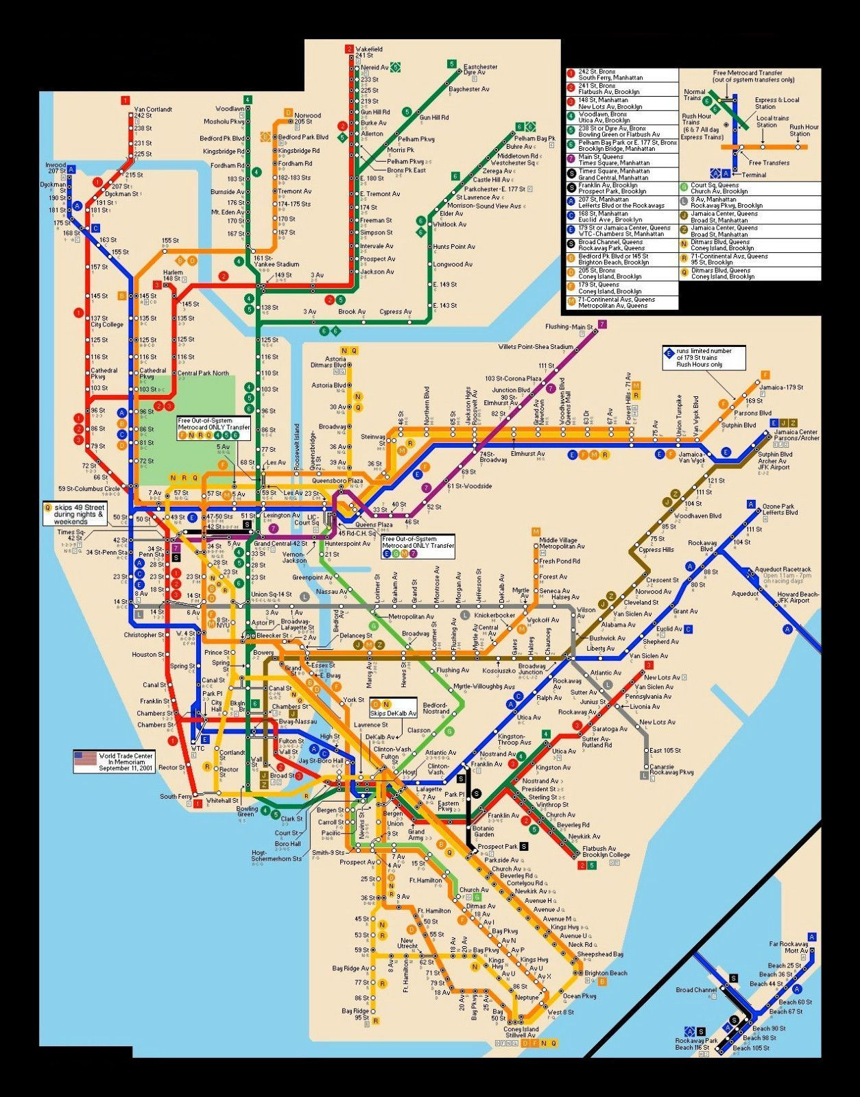 Framed New York Subway Map.Framed Print New York City Subway Map Picture Poster Modern Art