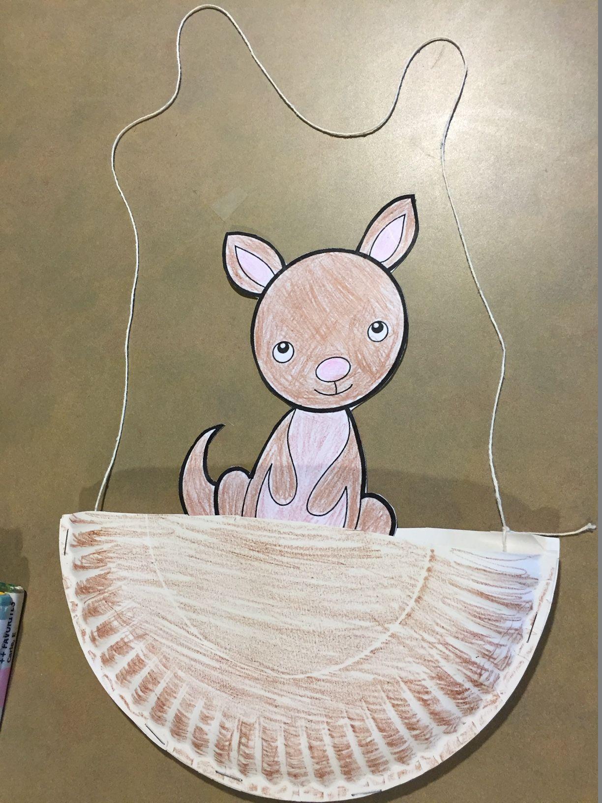 Kangaroo Craft storyhour Zoo