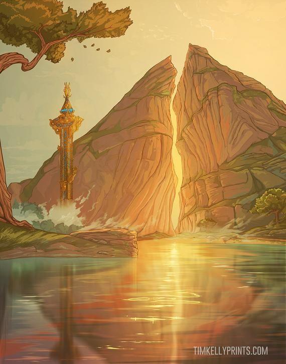 Dueling Peaks Artwork Print The Legend Of Zelda Breath Of The Wild Fanart In 2021 Legend Of Zelda Legend Of Zelda Breath Zelda Art