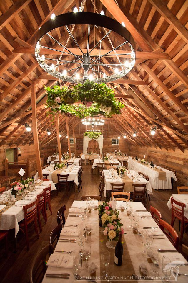 Reception Room In The Barn At Tarureka Estate Featherston Wellington Wedding Venue