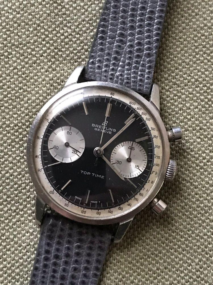 official photos b8ab0 bd0e9 Details about Breitling Vintage Rare Top Time Chronograph ...