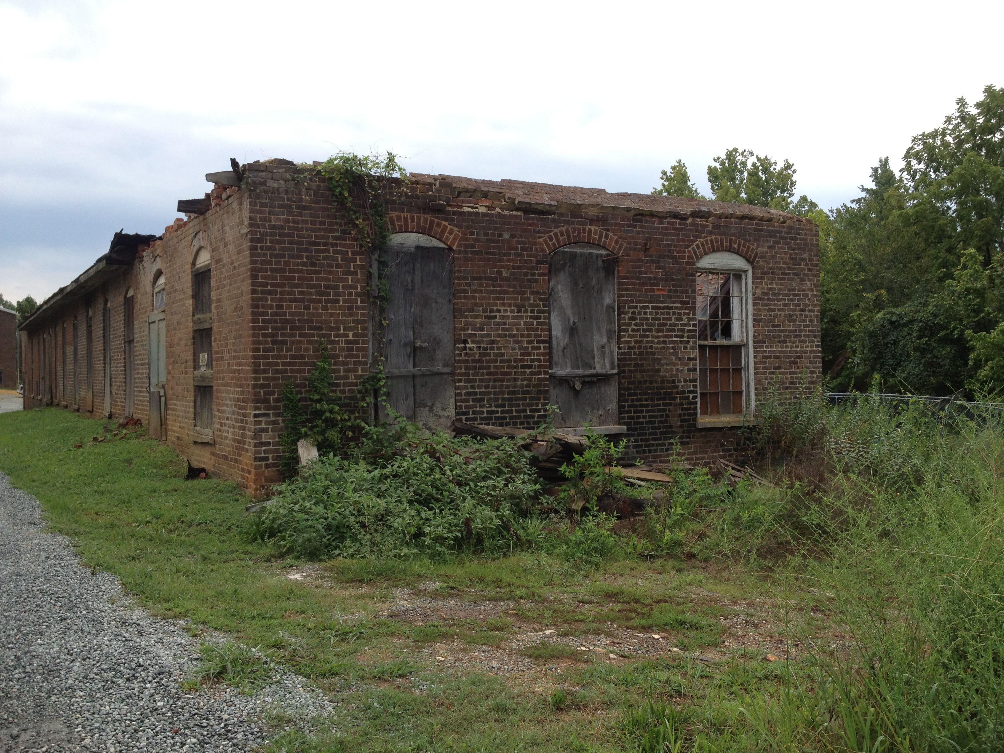 One of the abandoned Glencoe Mill buildings. This cotton