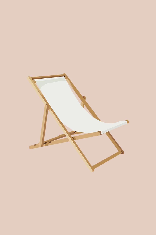 Beach Chair In 2020 Digital Sticker Logo Online Shop Cute Pastel Wallpaper
