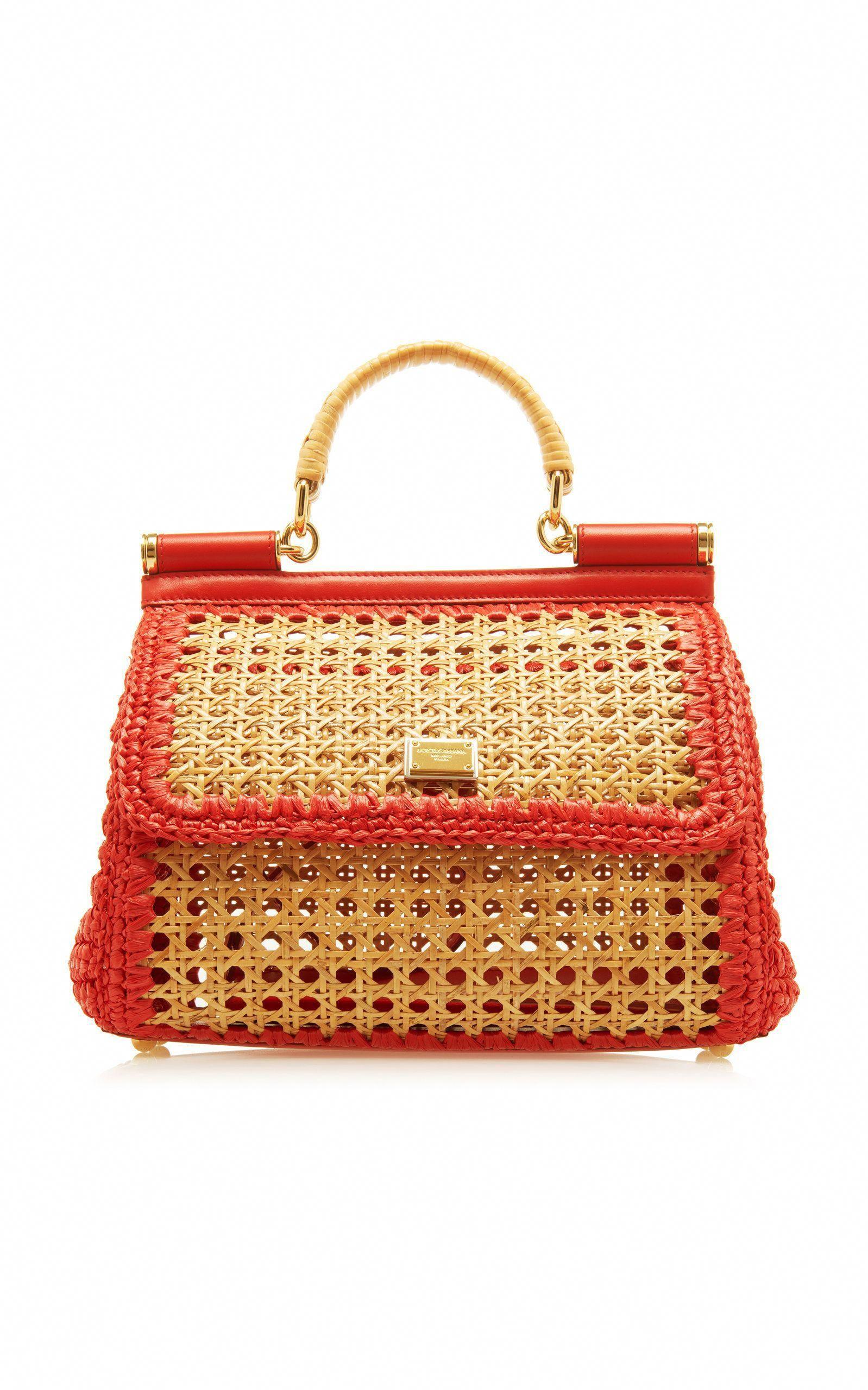 db2fb2d4eab2 Sicily Woven Raffia Bag by DOLCE   GABBANA Now Available on Moda Operandi   GreatwomenhandbagsIdeasIliked
