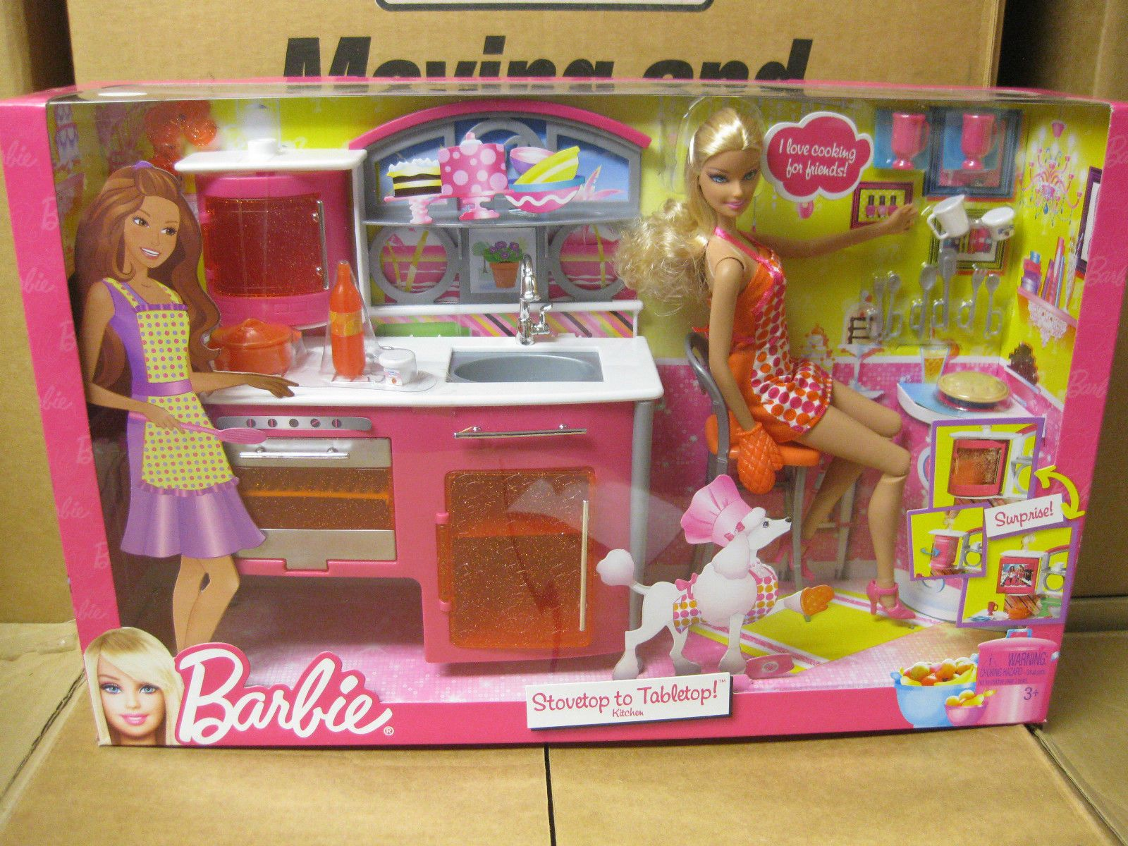 Barbie Stovetop To Tabletop Kitchen Playset By Mattel 2011