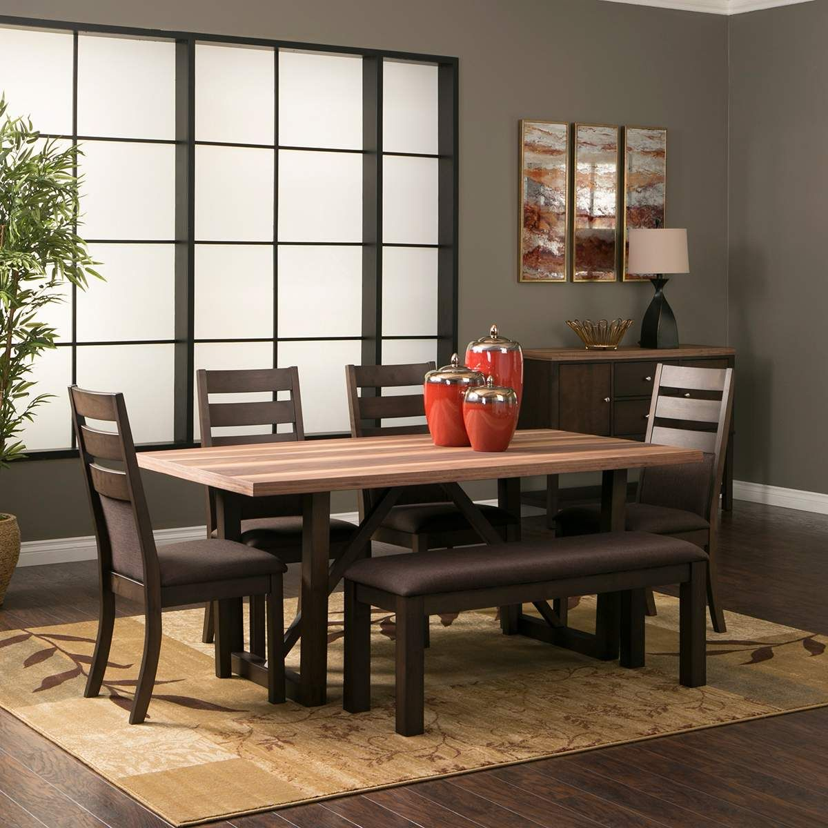 Venice Dining Collection Dining Table 4 Chairs In Espresso Dining Room Furniture Sets Casual Dining Room Furniture Furniture