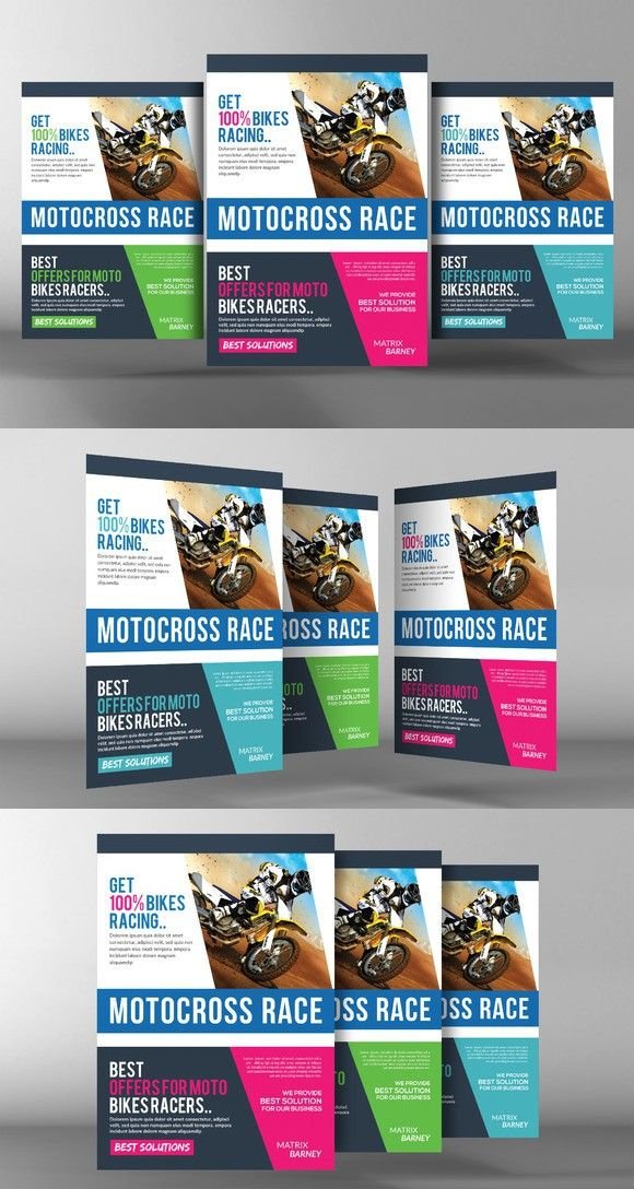 motocross race flyer template poster templates 6 00 flyers