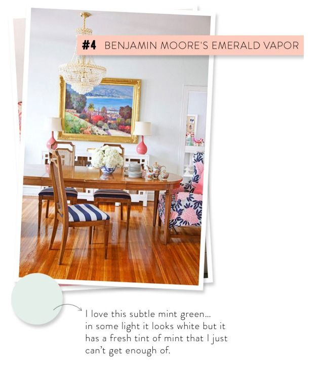 Catilin Wilson's Go-To Paint Colors | Dining room colors