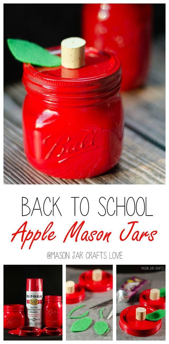 Apple Mason For Teacher Mason Jar Crafts Love Mason Jar Teacher Gifts Mason Jar Teacher Apple Mason Jar