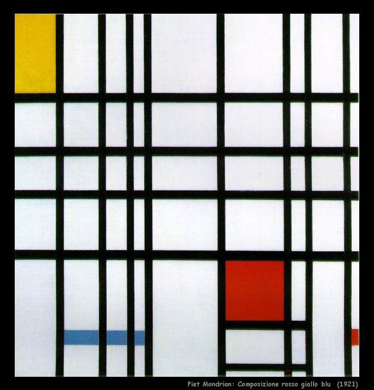 Piet Mondrian, Composizione Rosso Giallo Blu (1921)