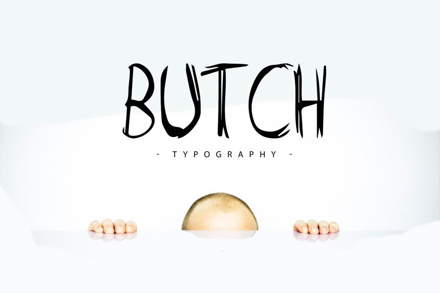 Butch free typeface is a marker typeface