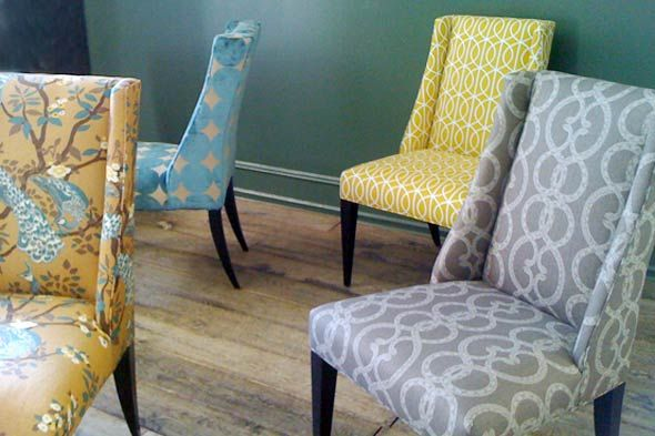 Exceptional Could Recover All Of My Parsons Chairs In Different (yet Cohesive!)  Fabrics? Fabric Dining ...