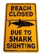 Sign for ocean/shark theme bedroom