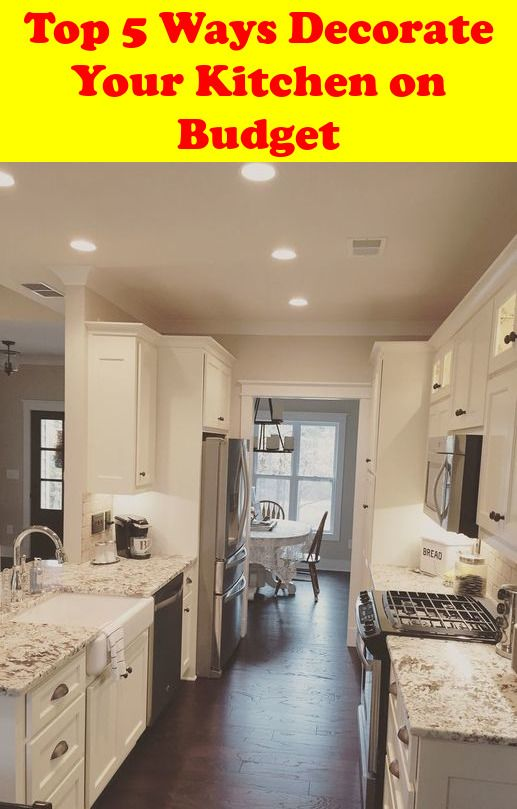 kitchen decor tips top 5 ways to decorate your kitchen on a budget rh pinterest com