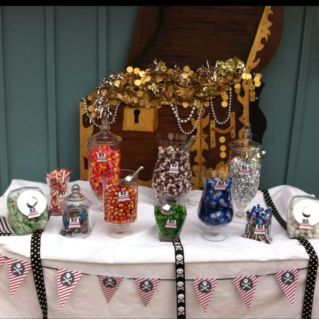 a pirate themed candy buffet from just sweets 631 327 8886 candy rh pinterest com