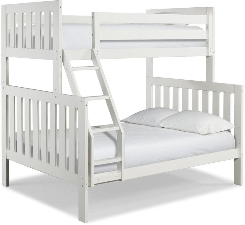 Canwood 2504 1 Lakecrest Twin Double Bunk Bed Bundle White Angled Ladder Minimalist - Review bunk bed furniture Idea