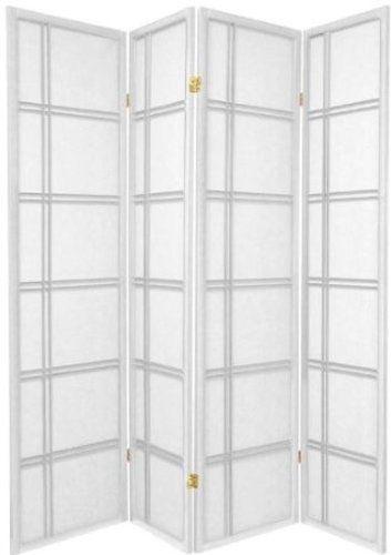 square design shoji screen room divider 4 panel white furniture rh pinterest com