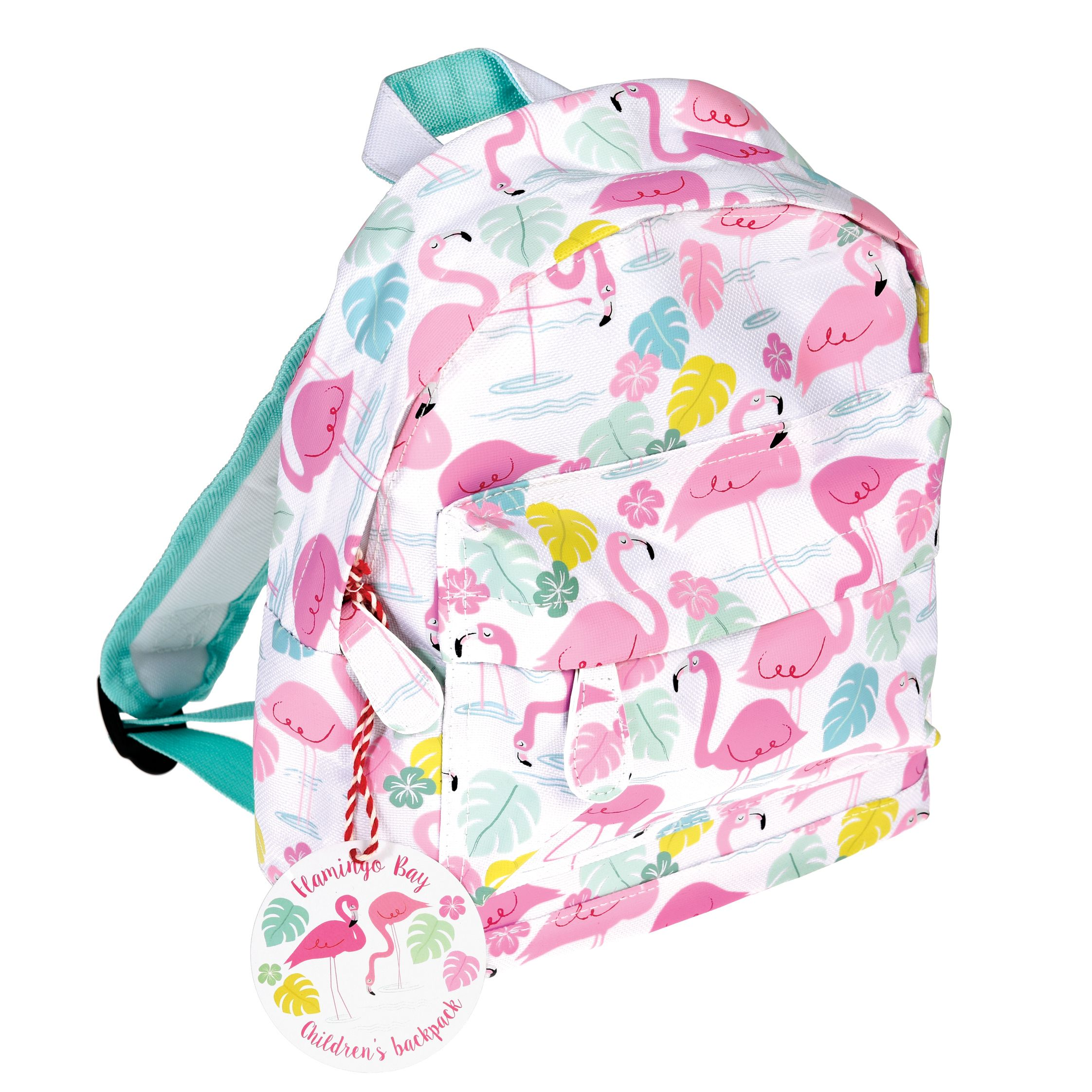 Personalised Kids Backpack Any Name Flamingo Girl Childrens Back To School Bag 3