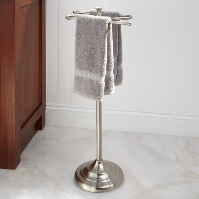 Smithfield Collection Free Standing Towel Bar Brushed Nickel For