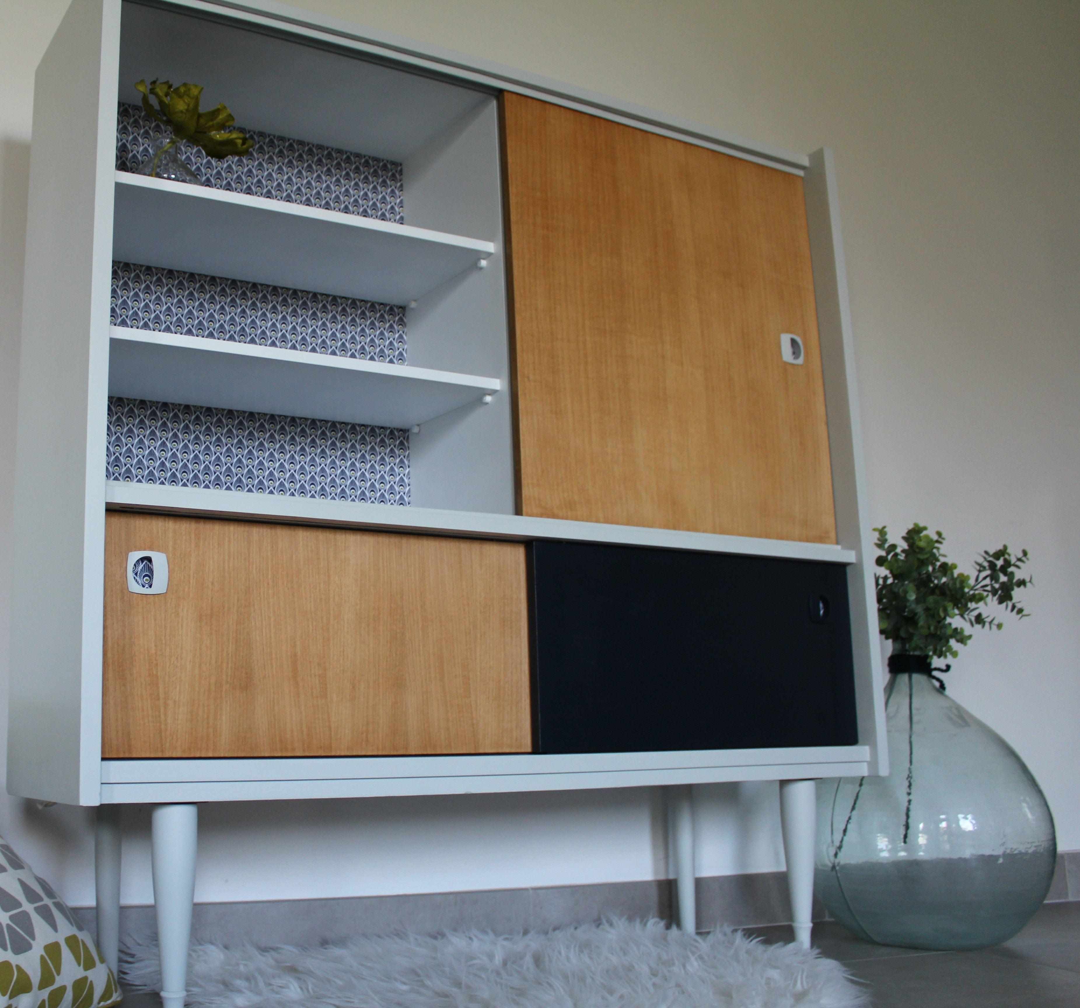 Envolé le buffet démodé, rénové par l'atelier un Nouvel R, le meuble est désormais tendance