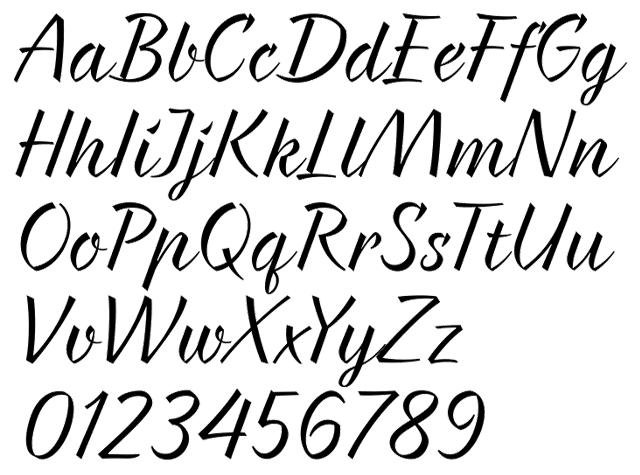 Braxton Typeface by Evgeny Tkhorzhevsky Alphabet Example