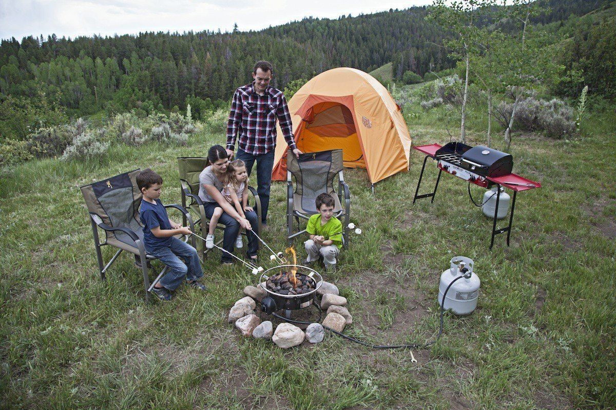 Amazon Com Camp Chef Redwood Portable Propane Fire Pit Patio Lawn Garden I Like How They Ma Portable Propane Fire Pit Propane Fire Pit Best Camping Stove
