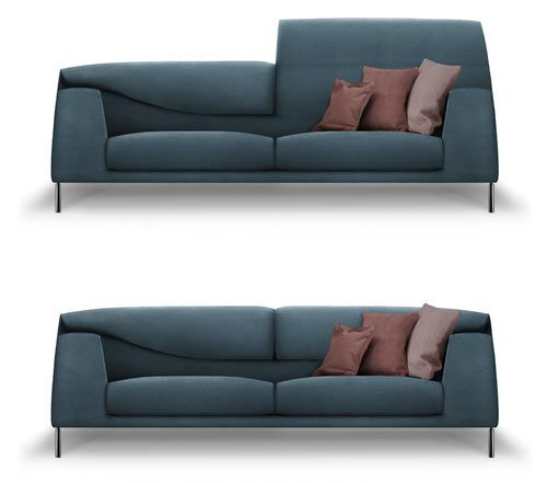 Italian designer Mauro Lipparini designed this Vita sofa for Italian company Bonaldo. It will be launched this year at Salone in Milan. I'm loving that the backrest can be raised or folded over, depending on your comfort needs.