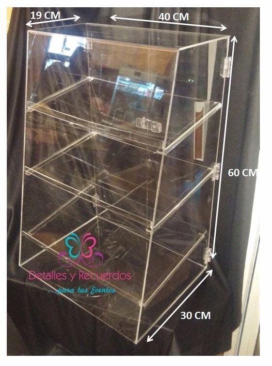 Vitrina Exhibidor Acrilico Mostrador Mesa Dulces Cupcake