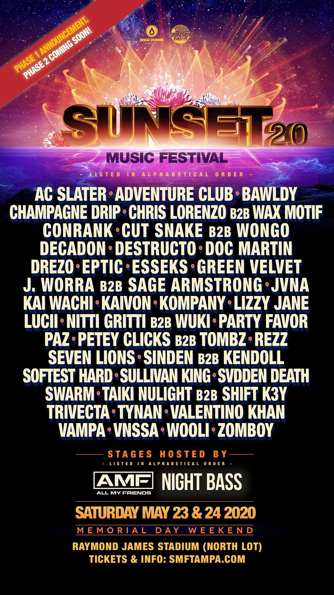Sunset Music Festival Is Back Sunset Music Festival Music Festival Music Festival List