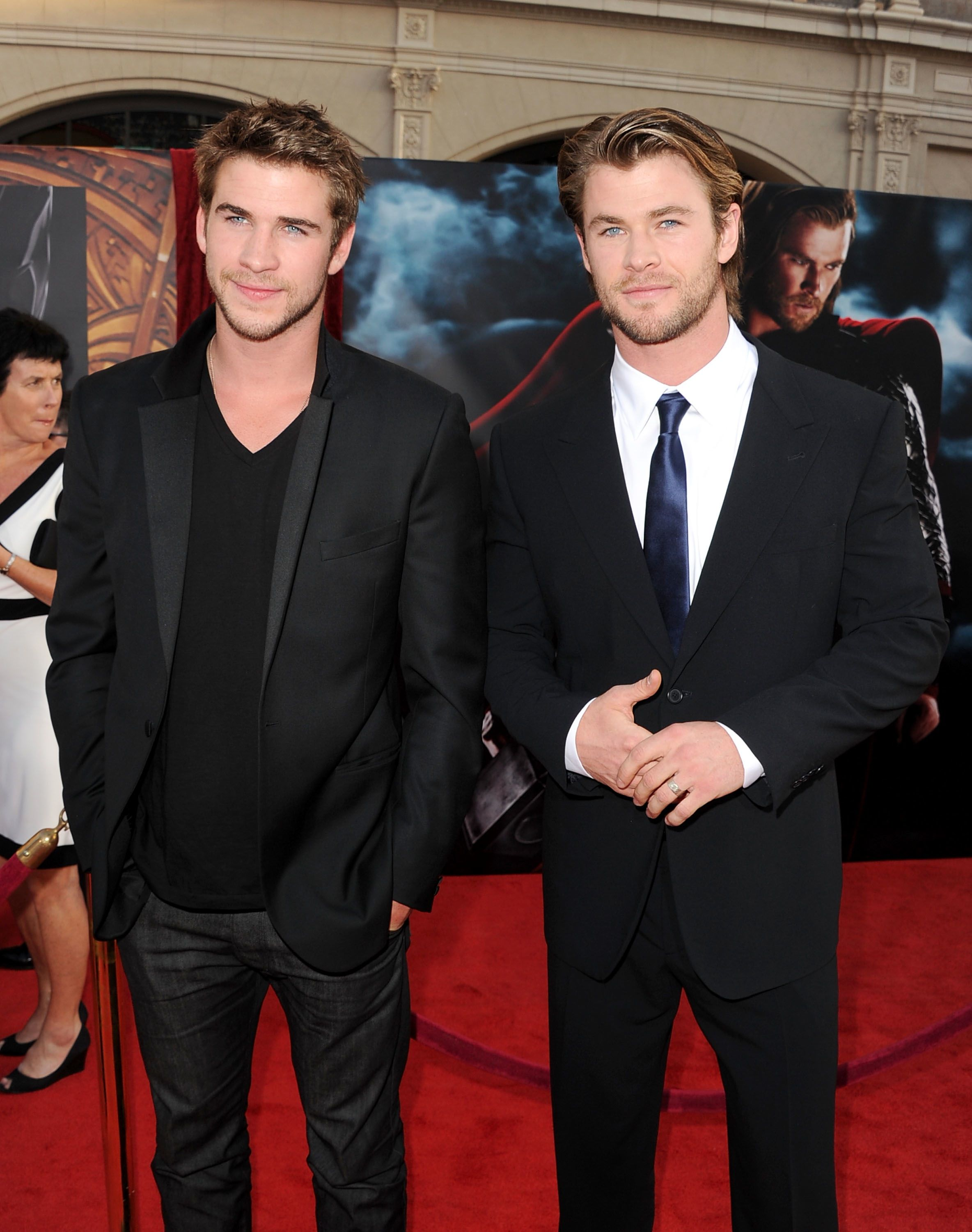 liam & chris hemsworth. I just realized yesterday that they were brothers. I feel stupid. haha.