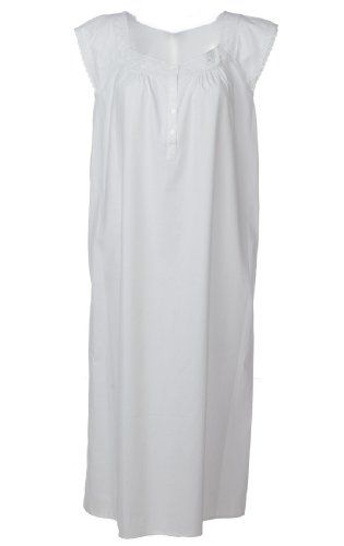 dcf9d0a26d The 1 for U 100% Cotton Nightgown - Angela - White (Medium) The